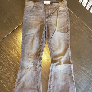 2 PAIRS! Stretch Free People black flare Jeans